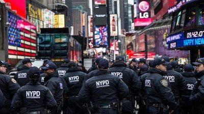 Amplio operativo de seguridad para Año Nuevo en Nueva York