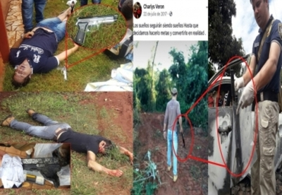 Presuntos delincuentes abatidos a tiros se  mostraban con potentes armas en Facebook