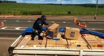 Brasil confisca enorme carga de cigarrillos