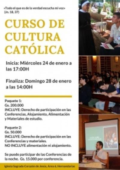 Octava edición del Curso de Cultura Católica para jóvenes y adultos inicia este miércoles