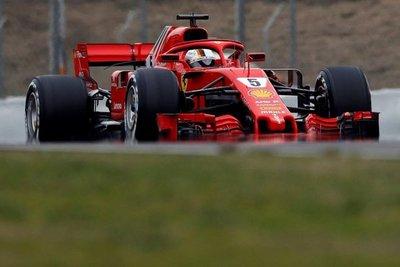 Sebastian Vettel, con Ferrari, el más rápido
