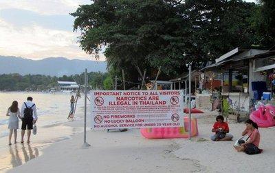 Los pecados de los turistas en Tailandia