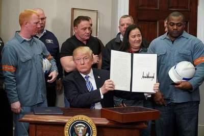 Trump impone oficialmente aranceles al acero y al aluminio