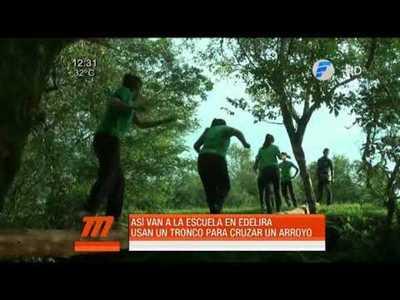 Edelira, donde llegar a una escuela es hacer deporte extremo
