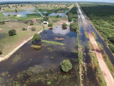 Aislados en el Chaco debido a la lluvia