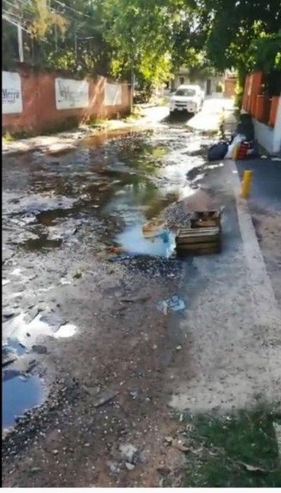 Pérdida de agua limpia