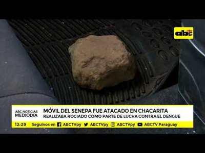 Atacan camioneta de SENEPA en Chacarita