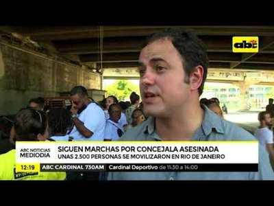 Marchan en Brasil para revindicar luchas de concejal asesinada