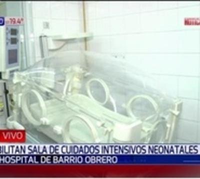 Hospital de Barrio Obrero: Habilitan sala de cuidados intensivos