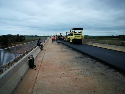 Sólo faltan 7 km para completar asfaltado de la Ruta 8 Blas Garay