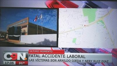 Obreros perecen en accidente de trabajo