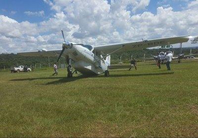Susto en aterrizaje de Abdo Benítez
