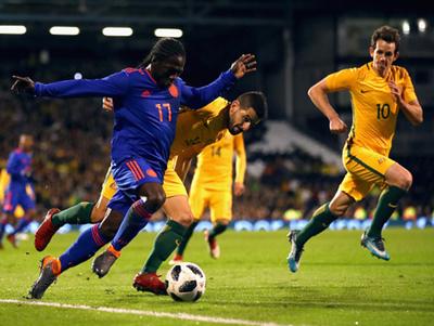 Colombia y Australia igualaron 0-0 en Londres