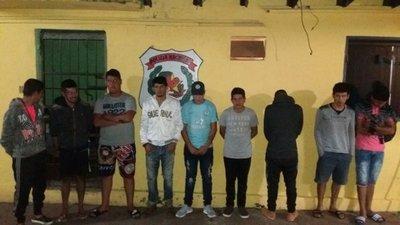"""Policía detuvo a diez """"corredores"""" en Luque"""