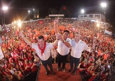 Cierre de campaña en Cordillera: Cartes pidió que unidad se vea en los votos