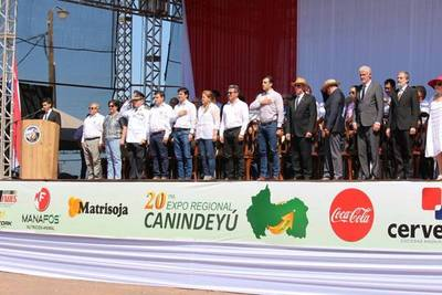 Habilitan la XX Expo Regional de Canindeyú