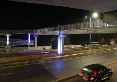 Habilitan sistema lumínico y primera pasarela peatonal de la Ruta 3
