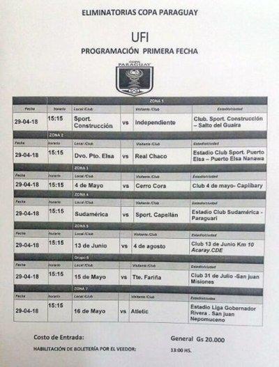 Los mejores de la UFI, en la Copa Paraguay