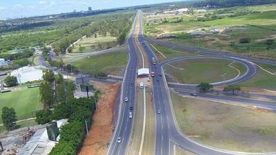 Luces Led a energía solar de la Autopista Ñu Guazú costarán G. 7.220 millones