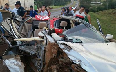 Conductores salen ilesos de un grave accidente en Minga Guazú