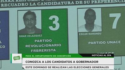 Conozca a los candidatos a la gobernación
