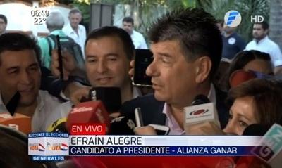 """Efraín Alegre: """"Hoy vamos a ganar todos"""""""