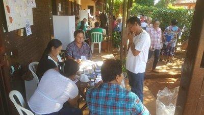 Jornada electoral normal en Curuguaty