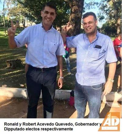 Ronald Acevedo electo flamante Gobernador del Amambay