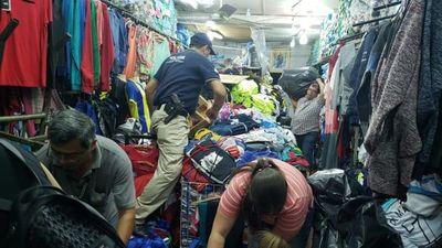 Combate a la Pirateria: Fiscalía realizó allanamientos en el Mercado Municipal Nº 4