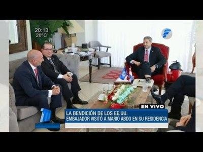 Mario Abdo Benítez recibió la bendición de los EE.UU.