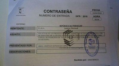 """PLRA pide informe sobre """"doble voto"""""""