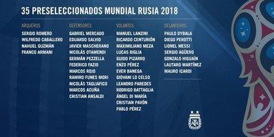 Messi lidera primera lista con sorpresas