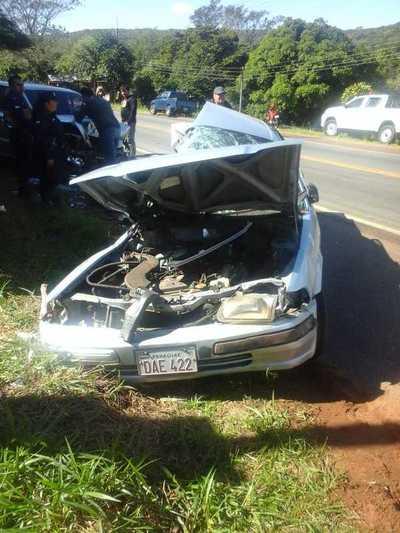 Choque en Caacupé se cobró la vida de una mujer