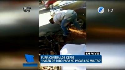 Destrozan cepos en San Lorenzo