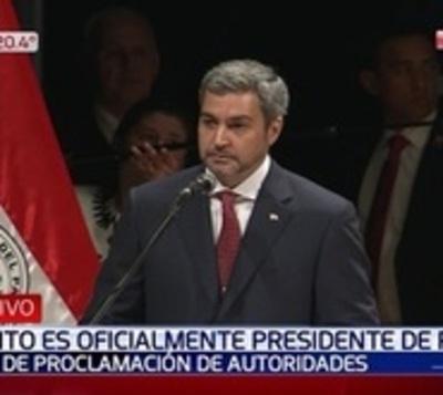 Mario Abdo es proclamado presidente