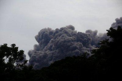 Volcán de Fuego, con nueve explosiones por hora