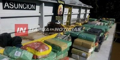 "UN AÑO DEL OPERATIVO FLUVIAL ""PAREDÓN"" CON 13 TONELADAS DE MARIHUANA INCAUTADA."