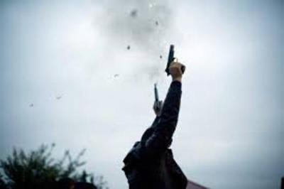 Denuncian a militar que realizaba disparos al aire