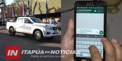TRÁNSITO DE ENCARNACIÓN RECEPCIONARÁ DENUNCIAS VÍA WHATSAPP.