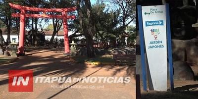 INTRODUCIRÁN MEJORAS EN EL JARDÍN JAPONÉS DE LA PLAZA DE ARMAS DE ENCARNACIÓN.