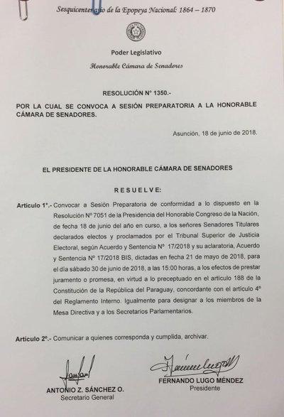 Lugo convoca para juramento, sin hacer excepciones, y genera suspicacias