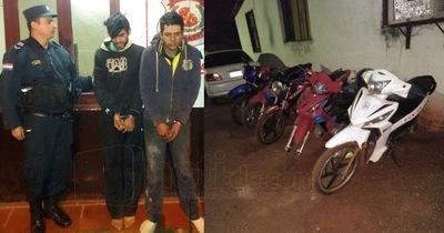 Dos detenidos y cinco motos recuperadas en la madrugada