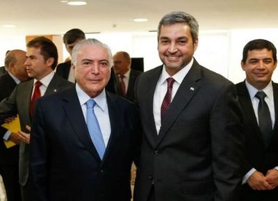 """Mario Abdo con Temer: """"Necesitamos luchar de manera coordinada contra el crimen transnacional"""""""