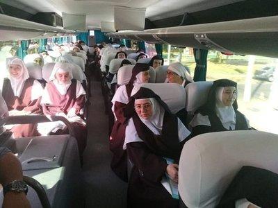 Carmelitas de la región llegan para la beatificación