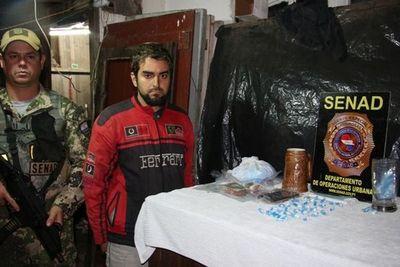 Cae delivery de cocaína en Barrio Obrero