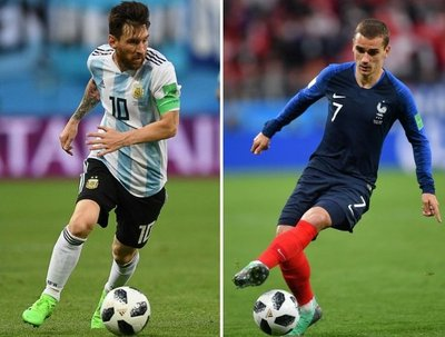 Argentina y Francia, duelo de favoritos