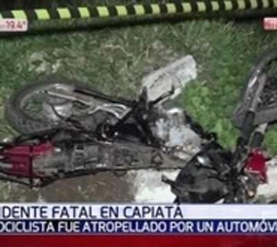 Brutal choque se cobró la vida de un motociclista