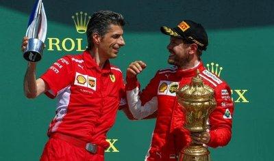 Vettel sale triunfador del circuito de Silverstone