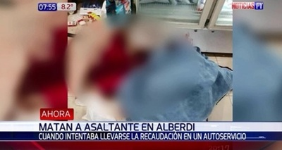 Adolescente mató a ladrón que asaltaba el negocio de su papá