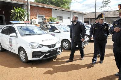 Mejoras y nuevas patrulleras para la Dirección de Policía del Alto Paraná